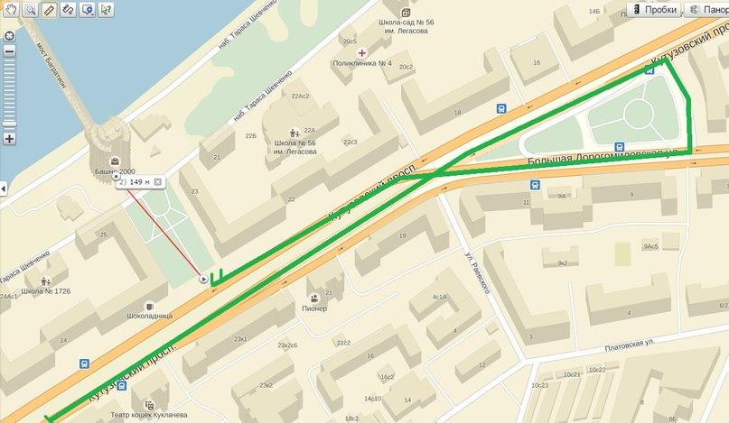 Карта Кутузовский проспект